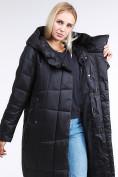 Оптом Куртка зимняя женская молодежная стеганная черного цвета 9163_01Ch в Екатеринбурге, фото 6