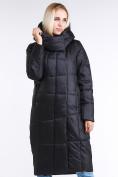 Оптом Куртка зимняя женская молодежная стеганная черного цвета 9163_01Ch в Екатеринбурге, фото 2