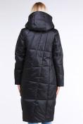 Оптом Куртка зимняя женская молодежная стеганная черного цвета 9163_01Ch в Екатеринбурге, фото 3