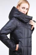 Оптом Куртка зимняя женская молодежная стеганная черного цвета 9163_01Ch в Екатеринбурге, фото 5