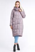 Оптом Куртка зимняя женская молодежная стеганная бежевого цвета 9163_12B в Казани