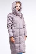 Оптом Куртка зимняя женская молодежная стеганная бежевого цвета 9163_12B в Казани, фото 5