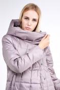 Оптом Куртка зимняя женская молодежная стеганная бежевого цвета 9163_12B в Казани, фото 6