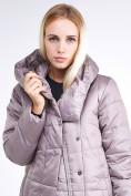 Оптом Куртка зимняя женская молодежная стеганная бежевого цвета 9163_12B в Казани, фото 7