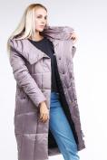 Оптом Куртка зимняя женская молодежная стеганная бежевого цвета 9163_12B в Казани, фото 8