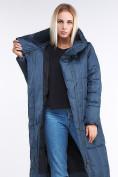 Оптом Куртка зимняя женская молодежная стеганная темно-синий цвета 9163_20TS в Казани, фото 6