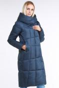 Оптом Куртка зимняя женская молодежная стеганная темно-синий цвета 9163_20TS в Казани, фото 3