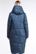 Оптом Куртка зимняя женская молодежная стеганная темно-синий цвета 9163_20TS в Казани, фото 4