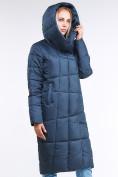 Оптом Куртка зимняя женская молодежная стеганная темно-синий цвета 9163_20TS в Казани, фото 5
