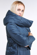Оптом Куртка зимняя женская молодежная стеганная темно-синий цвета 9163_20TS в Казани, фото 8