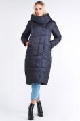Оптом Куртка зимняя женская молодежная стеганная темно-серого цвета 9163_29TC в Казани