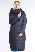 Оптом Куртка зимняя женская молодежная стеганная темно-серого цвета 9163_29TC в Казани, фото 2