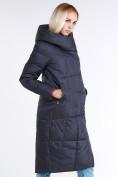 Оптом Куртка зимняя женская молодежная стеганная темно-серого цвета 9163_29TC в Казани, фото 3