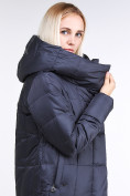 Оптом Куртка зимняя женская молодежная стеганная темно-серого цвета 9163_29TC в Казани, фото 7