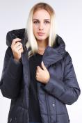 Оптом Куртка зимняя женская молодежная стеганная темно-серого цвета 9163_29TC в Казани, фото 8