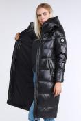 Оптом Куртка зимняя женская молодежное черного цвета 9175_01Ch в Казани, фото 4