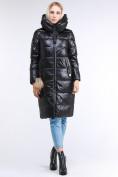 Оптом Куртка зимняя женская молодежное черного цвета 9175_01Ch в Казани, фото 3