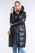 Оптом Куртка зимняя женская молодежное черного цвета 9175_01Ch в Казани, фото 5