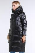 Оптом Куртка зимняя женская молодежное черного цвета 9175_01Ch в Казани, фото 6