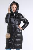 Оптом Куртка зимняя женская молодежное черного цвета 9175_01Ch в Казани, фото 8