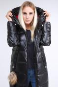 Оптом Куртка зимняя женская молодежное черного цвета 9175_01Ch в Казани