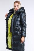 Оптом Куртка зимняя женская молодежное темно-серого цвета 9175_03TC в  Красноярске, фото 2
