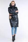 Оптом Куртка зимняя женская молодежное темно-серого цвета 9175_03TC в  Красноярске