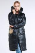 Оптом Куртка зимняя женская молодежное темно-серого цвета 9175_03TC в  Красноярске, фото 3
