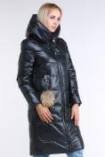 Оптом Куртка зимняя женская молодежное темно-серого цвета 9175_03TC в  Красноярске, фото 4