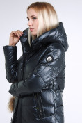 Оптом Куртка зимняя женская молодежное темно-серого цвета 9175_03TC в  Красноярске, фото 7