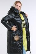 Оптом Куртка зимняя женская молодежное темно-зеленого цвета 9175_13TZ в  Красноярске, фото 2