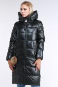 Оптом Куртка зимняя женская молодежное темно-зеленого цвета 9175_13TZ в  Красноярске, фото 3