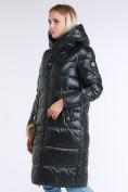 Оптом Куртка зимняя женская молодежное темно-зеленого цвета 9175_13TZ в  Красноярске, фото 4