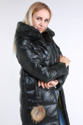Оптом Куртка зимняя женская молодежное темно-зеленого цвета 9175_13TZ в  Красноярске, фото 8