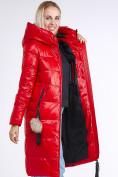 Оптом Куртка зимняя женская молодежное красного цвета 9175_14Kr в Казани, фото 2