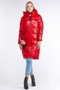Оптом Куртка зимняя женская молодежное красного цвета 9175_14Kr в Казани