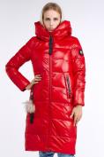 Оптом Куртка зимняя женская молодежное красного цвета 9175_14Kr в Казани, фото 3