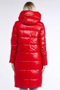 Оптом Куртка зимняя женская молодежное красного цвета 9175_14Kr в Казани, фото 5