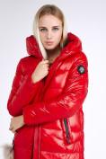 Оптом Куртка зимняя женская молодежное красного цвета 9175_14Kr в Казани, фото 7