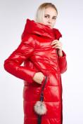 Оптом Куртка зимняя женская молодежное красного цвета 9175_14Kr в Казани, фото 8