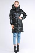 Оптом Куртка зимняя женская молодежная черного цвета 9179_03TC в Казани
