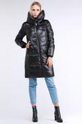 Оптом Куртка зимняя женская молодежная черного цвета 9179_01Ch в Казани