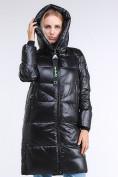 Оптом Куртка зимняя женская молодежная черного цвета 9179_01Ch в Казани, фото 4
