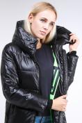 Оптом Куртка зимняя женская молодежная черного цвета 9179_01Ch в Казани, фото 5