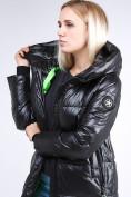 Оптом Куртка зимняя женская молодежная черного цвета 9179_01Ch в Казани, фото 6