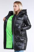 Оптом Куртка зимняя женская молодежная черного цвета 9179_01Ch в Казани, фото 7
