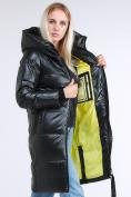 Оптом Куртка зимняя женская молодежная черного цвета 9179_03TC в Казани, фото 2