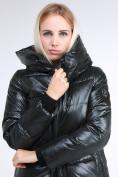 Оптом Куртка зимняя женская молодежная черного цвета 9179_03TC в Казани, фото 7