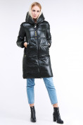 Оптом Куртка зимняя женская молодежная темно-зеленого цвета 9179_13TZ в  Красноярске, фото 2