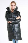 Оптом Куртка зимняя женская молодежная темно-зеленого цвета 9179_13TZ в  Красноярске, фото 3